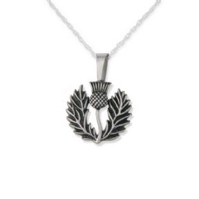 Scottish Thistle Stainless Steel Pendant Large 9645